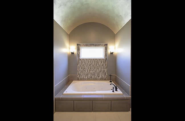 Transitional Master Bath in New Custom Built Home